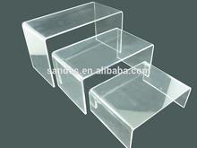 Table Shape Acrylic Floor Shoe Display Stand Plastic Shoe Display Platform