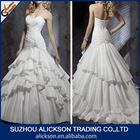 Glorious A Line Pleated Sweetheart Bodice Court Train Ruffle Japanese Wedding Dresses