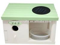 new design wooden bird house feeder bird box cage nest hotal