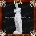 bellissimo giardino famoso intagliato a mano bianca statua di donna in marmo