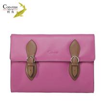 New arrival luxury COD-FISH handbag brands genuine leather italy accessories latest design ladies handbag