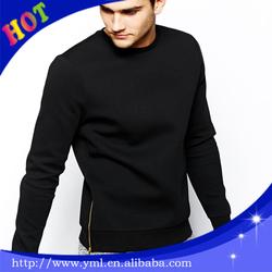 Zipper black thick hoodies on side