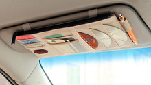 Polyester car storage bag for namecard and CD
