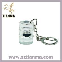 Custom acrylic keychain insert oil drop for souvenir