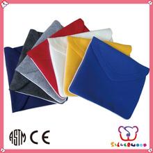 GSV certification eco polyester fashion design promotional wool felt laptop bag
