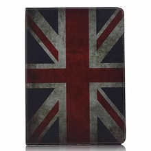 Retro Case For ipad 2 3 4 Retro Paris Eiffel Tower US UK Flags Leather Smart Holder Cover Stand Case