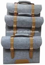 Laptop Bag Sleeve Wool Felt With Vegetable Leather Handle Briefcase Felt Sleeve Case Portable Laptop Bags
