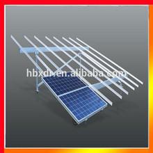 Anodized black diffrent sizes aluminium solar roof mounting