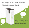 21.6Mbps 3g wifi wireless portable router with power bank 7800mAh - M8