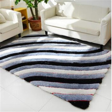 new design 3d multicolor polyester shaggy floor carpet tiles for living room and home