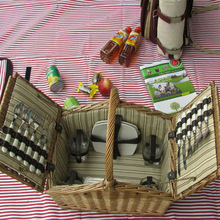 HOT 100%handmade picnic basket cool bag