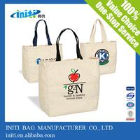 High Quality Wholesale Recyclable Plain White Cotton Canvas Tote Bag