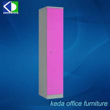 Hot Sale Pink Single Steel Armoire, Single Locker