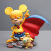 Cute miniature Ratman collectables hand paint nude resin figure