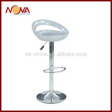 2014 acrylic two-tube metal swivel high bar chair