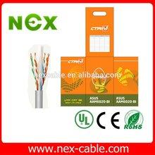 3 m brand.23AWG Isoh smoke zero, helogen pure coper.white grey colour UTP cable CAT 6