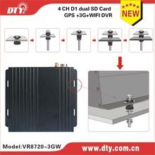DTY VR8720 4 channel mini mobile dvr Turkish language menu