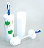 ITEM#1874 Toilet brush with cover with holder set with soft grip handle