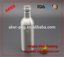 Empty metal aluminum energy drink beverage bottle