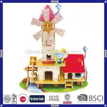 OEM nice educational DIY toy 3d puzzle