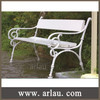 FW85 Antique Cast Iron Park Bench with Wooden Slats
