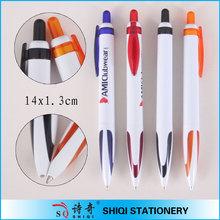 school supply white barrel fat grip ballpen custom pen