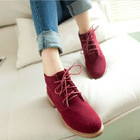 2014 women fashion ankle boots flat heel motorcycle boots JH-SE-040