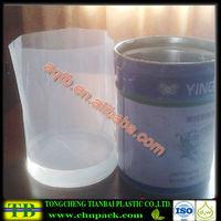transparent sewing ldpe round bottom liner bag