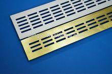Aluminium ventilation grill for interior decoration