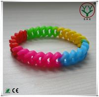 wholesale fashion elastic silicone rubber bracelet
