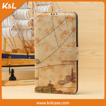 MAP, COLORED Mobile Phone PU Case for Samsung S5 PU leather, for Galaxy S5, 9600, For galaxy S6, leetchee pattern,