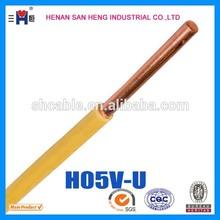 China Manufacturer Electric Wire H05V-U H07V-U 12 AWG Copper wire