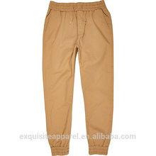 100% cotton long wristband tan khaki pant trousers