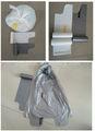 Hdpe/LDPE plastik geri dönüşüm çöp torbası rulo kravat üstleri dalga üstleri