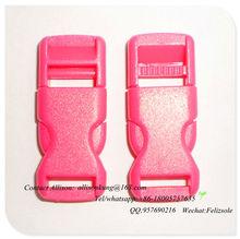 Plastic quick release buckle for pet collar