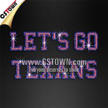 Wholesale Glitter Transfer Let's Go Texans Iron on Bling Letters