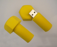 Special design silicone 8GB screw usb memory stick, Yellow crew drive key,promotional tools USB memory sticks