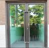 commercial glass entry door main gate design