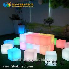 led light up chair plastic cube color change
