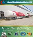 50 toneladas, 3 ejes de aleación de aluminio, Muriatic / clorhídrico / ácido sulfúrico camión cisterna remolque para la venta