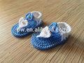 Handmade do bebê sandálias de bebê do crochet sapatos recém-nascido adereços foto