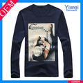 estadounidense de prendas de vestir de algodón liso camiseta sublimación de venta al por mayor
