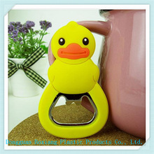 rubber magnetic pvc bottle opener/soft pvc 3D bottle openers
