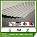 calidad superior de las hojas de cartón reciclado color gris de paja de papel junta