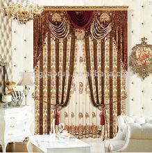 New luxury solid sheer grommet faux silk window air curtain