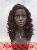 AAAAA Grade red indian human hair deep wave lace front wig