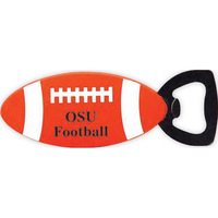 OSU football bottle openers, rugby shaped bottle opener, magnet PVC beer openers manufacturer