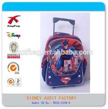 2014 fashion new boy backpack kids wheeled trolley school bag