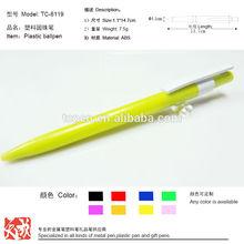 plastic stick pen skin safe ball pens tc6119