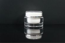 30ml wholesale round acrylic clear packaging ceramic jars with lids